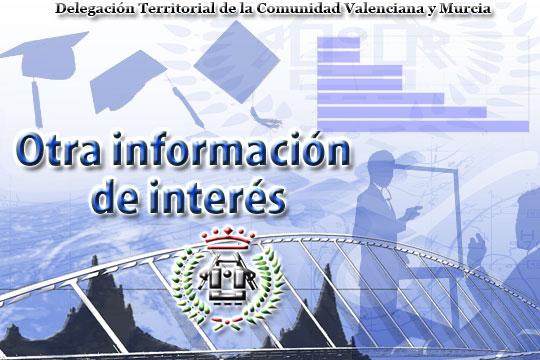 Otra información de interés de la Delegación Territorial de la Comunidad Valenciana y Murcia del Ilustre Colegio Oficial de Ingenieros Técnicos en Topografía - Asociación Nacional de Ingenieros en Geomática y Topografía